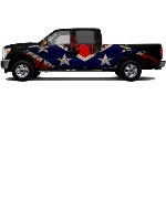 Rebel freedom Truck Wrap