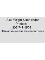 """Alex wright cedar Car Magnet 24""""W x 14""""H"""