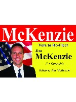 "vote mckenzie Car Decal 26""W  x 18""H"