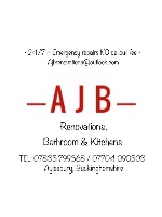 "AJB renovations Car Magnet 14""W x 12""H"