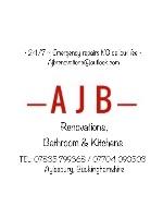 """AJB renovations Car Magnet 14""""W x 12""""H"""