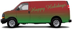 The holiday van Cargo Van Wrap