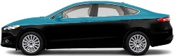 Two Tone fusion Sedan Wrap