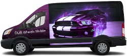 DUB van mobile Transit Van Wrap