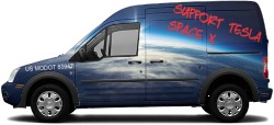 Ford Transit Tesla Supporter Transit Connect Wrap