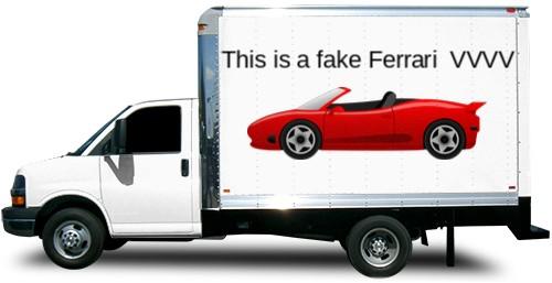Fake news van Box Truck Wrap