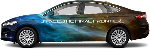 Space, the final frontier... Sedan Wrap