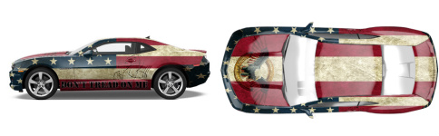 America! Muscle Car Wrap