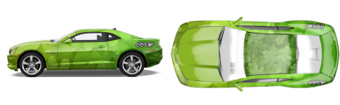 Shamrock And Roller Muscle Car Wrap