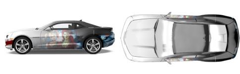 Arkham Muscle Car Wrap