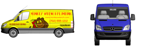 Plumber Design by LocalAdz.net - Van Wrap