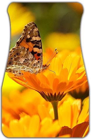 Butterfly on a Flower Car Mats Front