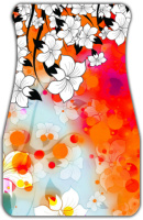 Tropical Flower Motif Car Mats Front