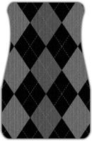 Gray Argyle Pattern Car Mats Front