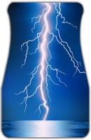 Lightning Bolt Car Mats Front
