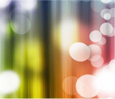 """Rainbow Bubbles Car Magnet 14""""W x 12""""H"""