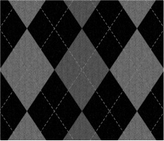 "Gray Argyle Pattern Car Magnet 14""W x 12""H"