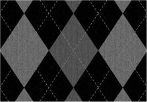 "Gray Argyle Pattern Car Decal 26""W  x 18""H"