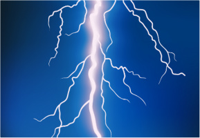 "Lightning Bolt Car Decal 26""W  x 18""H"