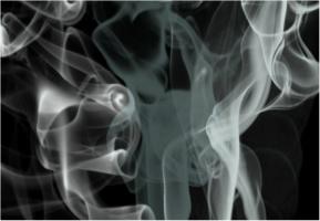 "Black Smoke Car Decal 26""W  x 18""H"