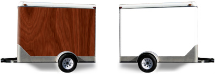 Regular Wood Grain Trailer Wrap