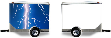 Lightning Bolt Trailer Wrap