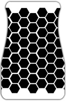 Black Honeycomb Car Mats Front