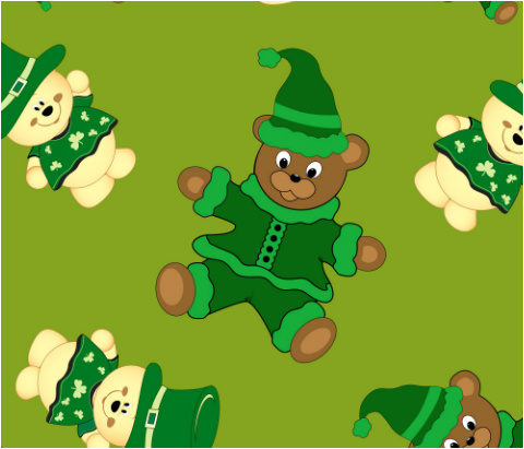 "St Pattys Day Bears Car Magnet 14""W x 12""H"