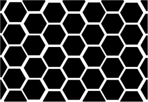 "Black Honeycomb Car Decal 26""W  x 18""H"