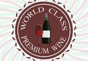 "Premium Wine Logo Car Decal 26""W  x 18""H"