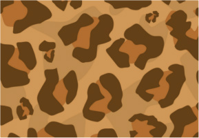 "Classic Large Leopard Print Car Decal 26""W  x 18""H"