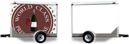 Premium Wine Logo Trailer Wrap