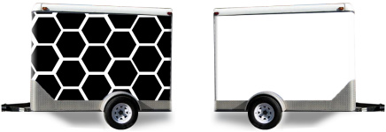 Black Honeycomb Trailer Wrap