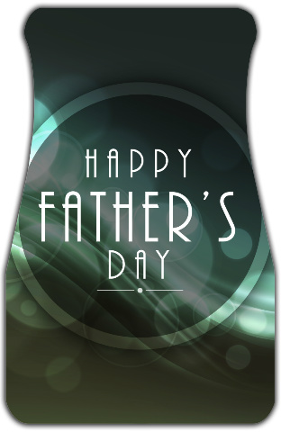 1920's Style Fathers Day Car Mats Front