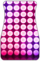Pink Concert Lights Car Mats Front