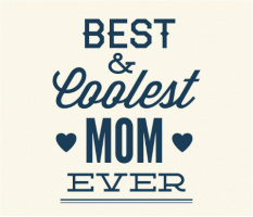 "Coolest Mom Ever Car Magnet 14""W x 12""H"