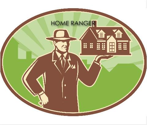 "HOME RANGER REAL ESTATE Car Magnet 14""W x 12""H"
