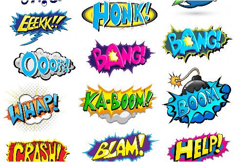 """Pow Boom Zap! Car Decal 26""""W  x 18""""H"""