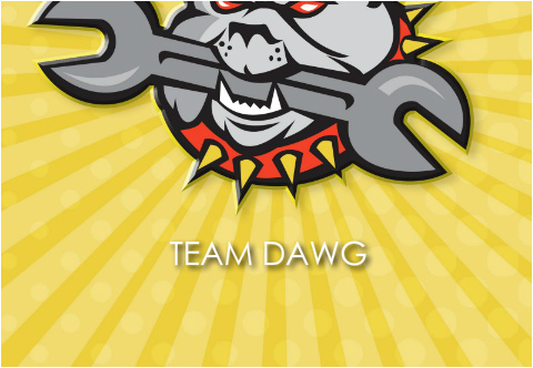 "Team Dawg Car Decal 26""W  x 18""H"
