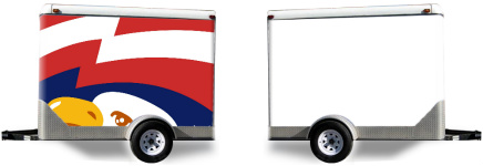 Bald Eagle Trailer Wrap