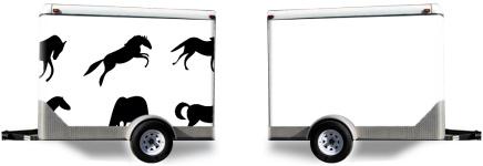 Horses Trailer Wrap
