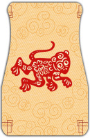 Red Monkey Car Mats Front