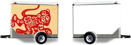 Red Monkey Trailer Wrap