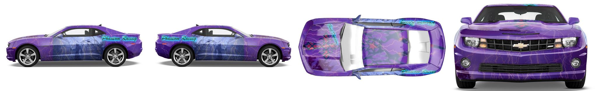 dead Muscle Car Wrap