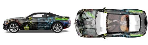 anime car Muscle Car Wrap