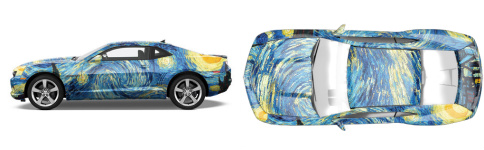 Starry night Muscle Car Wrap