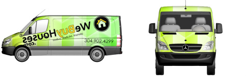 We Buy Houses Van Wrap