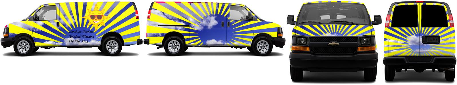 Cargo Van Wrap #43959