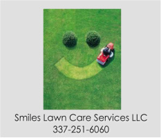"Smiles Lawn Care Car Magnet 14""W x 12""H"