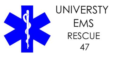 "university ems decal Car Decal 48""W x 24""H"